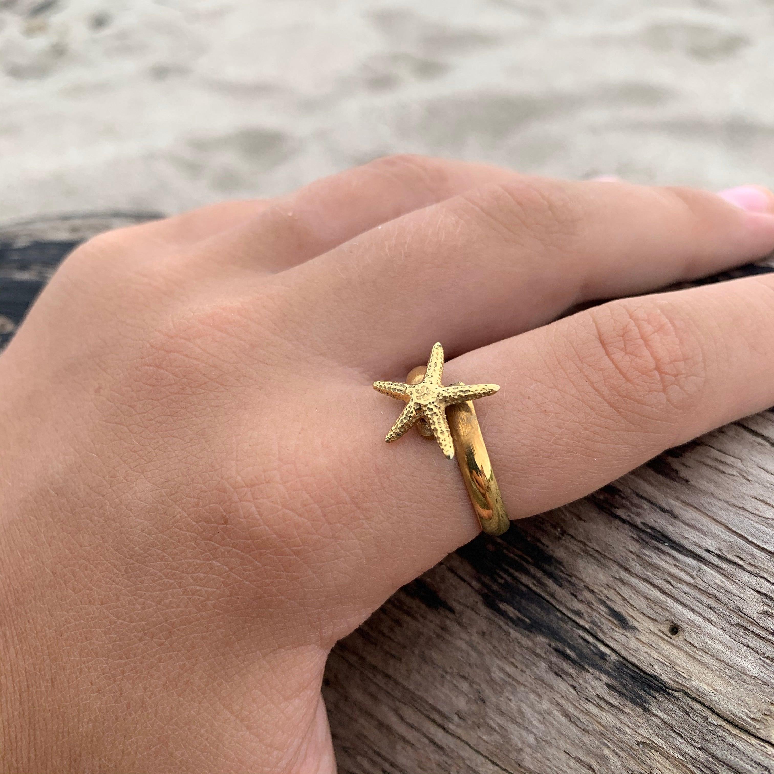 Ring Bronze Starfish-Jenstones Jewelry