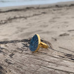 Load image into Gallery viewer, Deep Sea Druzy Ring-Jenstones Jewelry