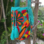 Load image into Gallery viewer, Mochila Macaw Large Design Turquoise-Jenstones Jewelry