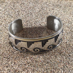 Load image into Gallery viewer, Tribal Wave Cuff-Jenstones Jewelry