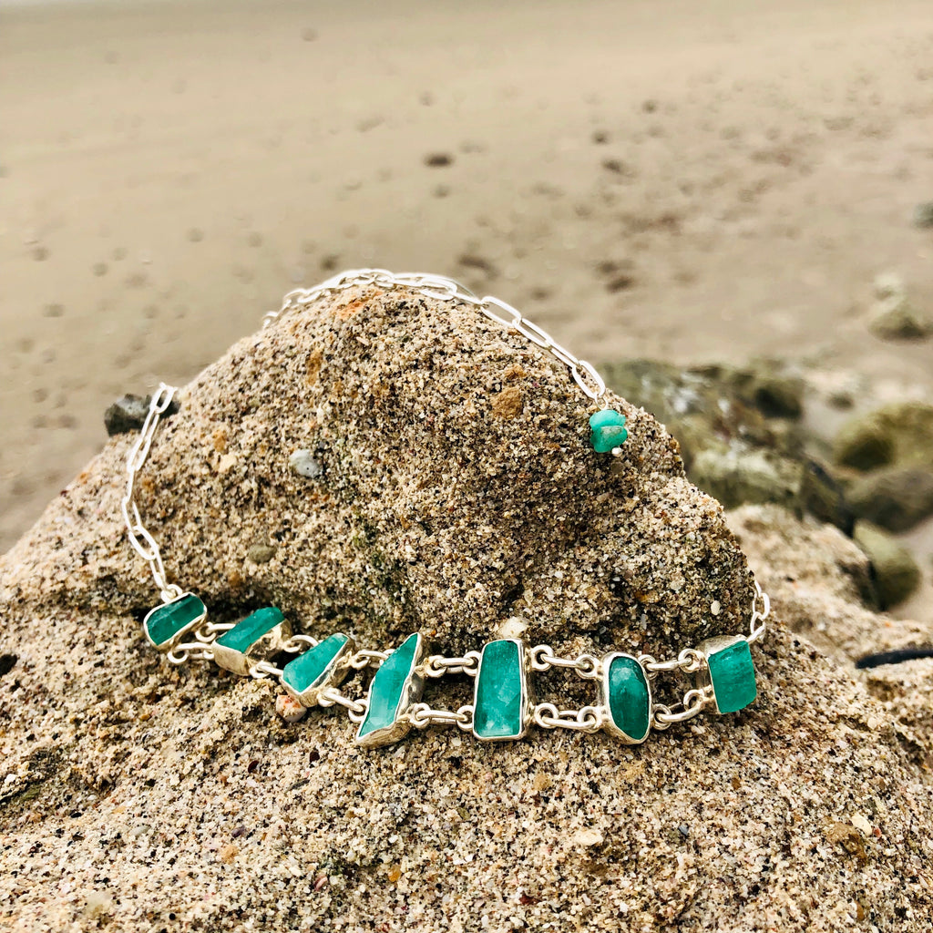Emeralds Goddess Choker-Jenstones Jewelry