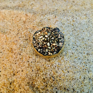 Bronze Ring with Golden Druze-Jenstones Jewelry