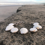 Load image into Gallery viewer, Shiva Eye and Scallop Shell Silver Link Bracelet-Jenstones Jewelry