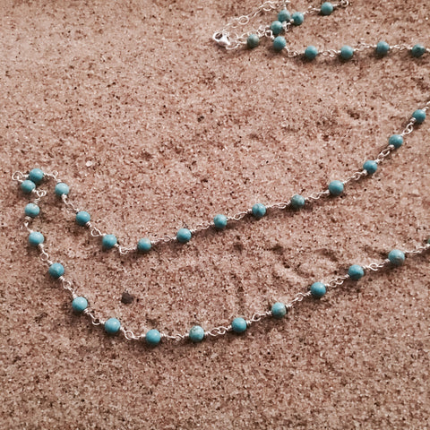 Turquoise Chain Link Necklace