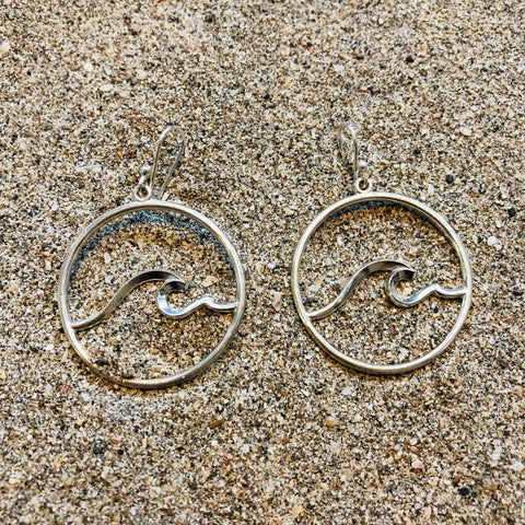 Nosara Wave Hoops Sterling Silver