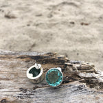 Load image into Gallery viewer, Green Amethyst Faceted Posts-Jenstones Jewelry