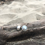 Load image into Gallery viewer, Gray Fresh Water Pearl Post Earrings-Jenstones Jewelry
