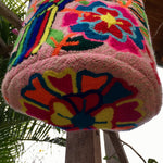 Load image into Gallery viewer, Mochila Pink Parrot Large Pom Pom Braid Design-Jenstones Jewelry