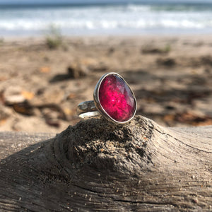Watermelon Tourmaline Facet Ring-Jenstones Jewelry