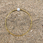 Load image into Gallery viewer, Hammered Bronze Bangle with Pearl-Jenstones Jewelry