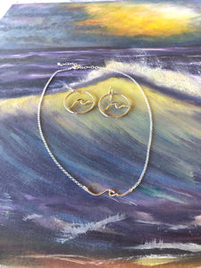 Wave Necklace in Sterling Silver-Jenstones Jewelry