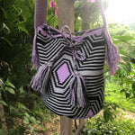 Load image into Gallery viewer, Mochila Purple, Gray Large Design-Jenstones Jewelry