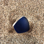Load image into Gallery viewer, Ring Sterling and Cobalt Blue Seaglass Large-Jenstones Jewelry