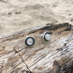 Load image into Gallery viewer, Moonstone Post Earrings-Jenstones Jewelry