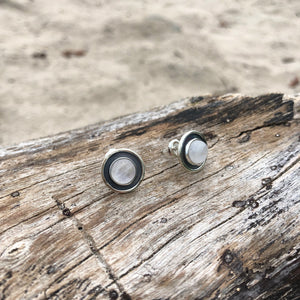 Moonstone Post Earrings-Jenstones Jewelry