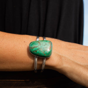 Turquoise Double Cuff-Jenstones Jewelry