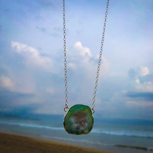 Rainbow Druzy Necklace-Jenstones Jewelry