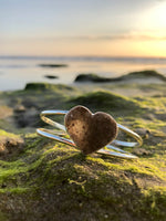 Load image into Gallery viewer, Druzy Quartz Heart Cuff-Jenstones Jewelry