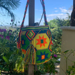 Load image into Gallery viewer, Mochila Neon Diamond Flower Large Design-Jenstones Jewelry