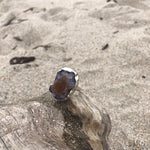 Load image into Gallery viewer, Geode Agate Amethyst Sterling Silver Ring-Jenstones Jewelry