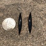 Load image into Gallery viewer, Black Shaft Onyx Earrings-Jenstones Jewelry