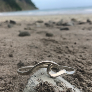 "Bangle Sterling ""One More Wave""-Jenstones Jewelry"