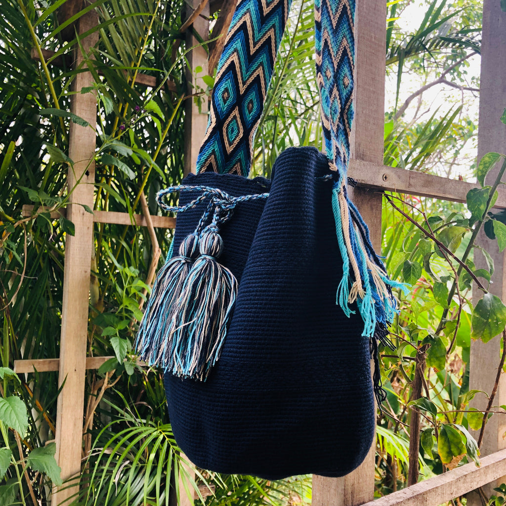 Mochila Navy Blue Large-Jenstones Jewelry