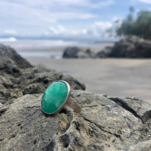 Chalcedony Facet Ring Oval-Jenstones Jewelry