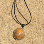 Load image into Gallery viewer, Fossilized Sand Dollar Pendant Large-Jenstones Jewelry