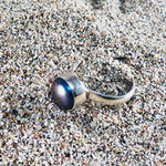 Load image into Gallery viewer, Black Pearl Ring-Jenstones Jewelry