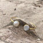 Load image into Gallery viewer, Coin Pearl Bronze Wrap Cuff-Jenstones Jewelry