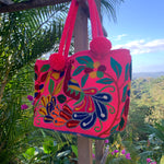 Load image into Gallery viewer, Mochila Pink Peacock Large Design Zipper-Jenstones Jewelry