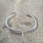 Load image into Gallery viewer, Cuff Sterling Wave Cutback-Jenstones Jewelry