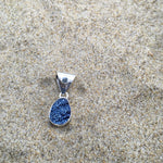 Load image into Gallery viewer, Titanium Druze Pendant with Blue Topaz-Jenstones Jewelry