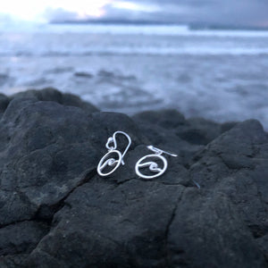 Mini Wave earrings-Jenstones Jewelry
