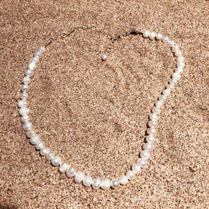 Pearl Necklace White Freshwater-Jenstones Jewelry