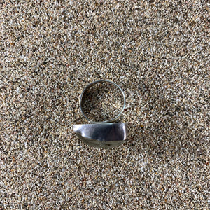 Ring Sterling and White Bottle Top Seaglass Large-Jenstones Jewelry