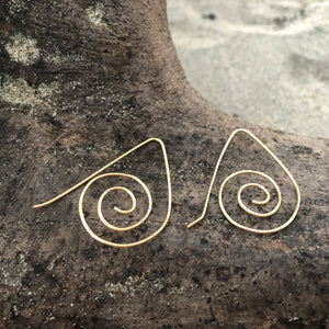 Gold Swirl Earrings (add on)-Jenstones Jewelry