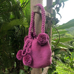 Load image into Gallery viewer, Mochila Magenta Small Pom Pom-Jenstones Jewelry
