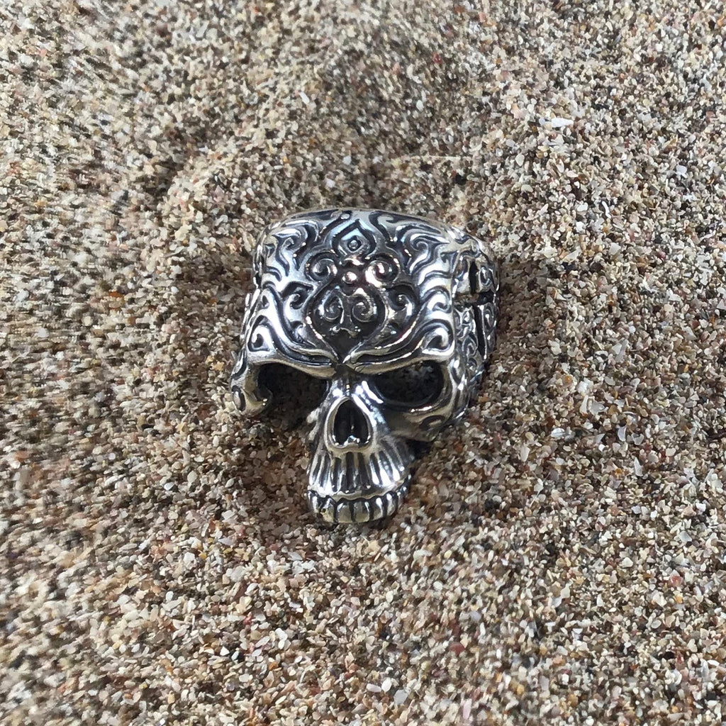 Dead Religion Skull Ring-Jenstones Jewelry