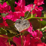 Load image into Gallery viewer, Heart Druzy Pendant Silver Gray-Jenstones Jewelry