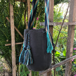 Load image into Gallery viewer, Mochila Gray & Blue Large-Jenstones Jewelry