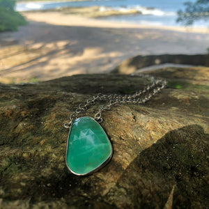 Chalcedony Facet Necklace-Jenstones Jewelry