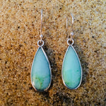 Load image into Gallery viewer, Chrysoprase Drop Dangle Earrings Sterling-Jenstones Jewelry