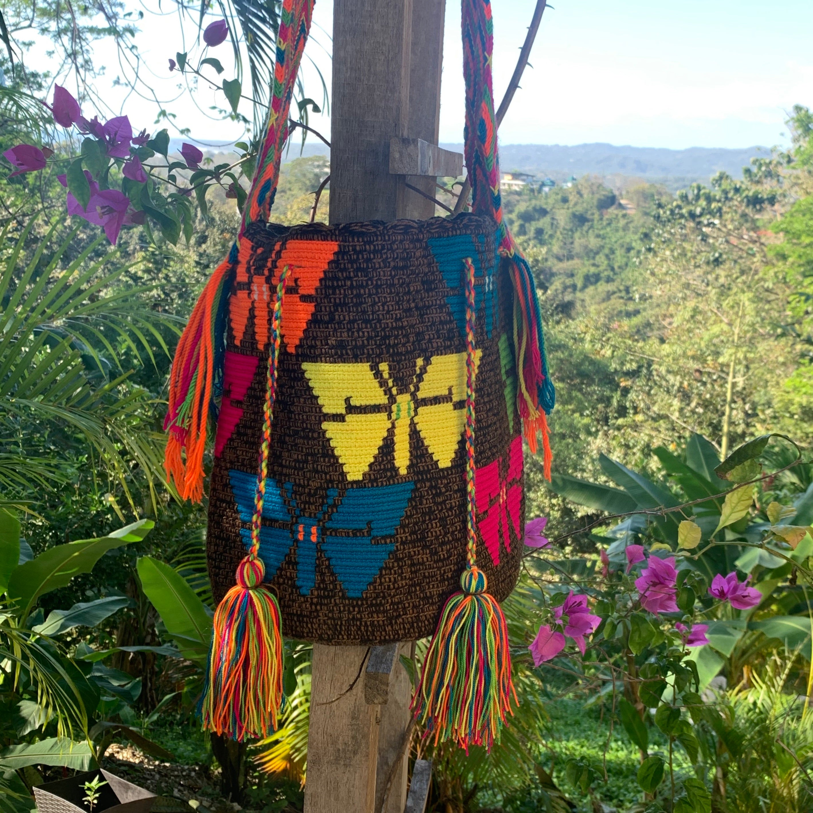 Mochila Butterfly Large Design Cafe-Jenstones Jewelry