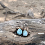 Load image into Gallery viewer, Larimar Tear Drop Earrings-Jenstones Jewelry