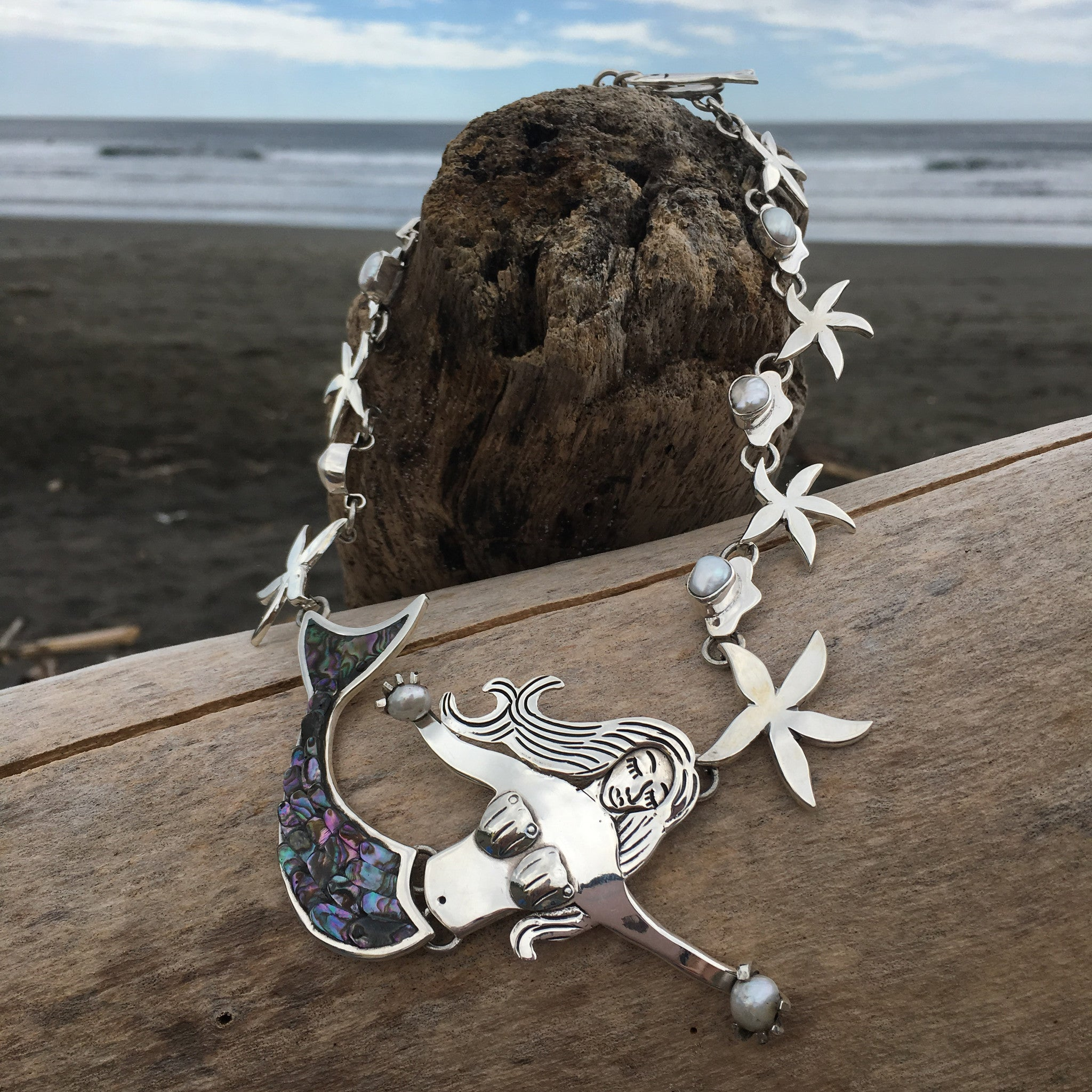 Mermaid Goddess Necklace-Jenstones Jewelry