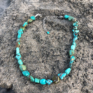 Turquoise Nugget Necklace-Jenstones Jewelry