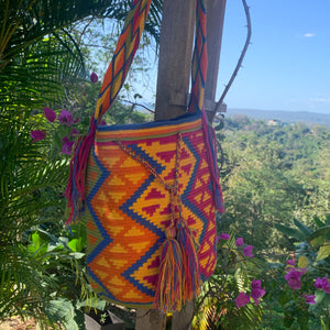Mochila Orange/Blue Zig Zag-Jenstones Jewelry