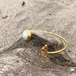 Load image into Gallery viewer, Pearl and Mermaid Bronze Wrap Cuff-Jenstones Jewelry